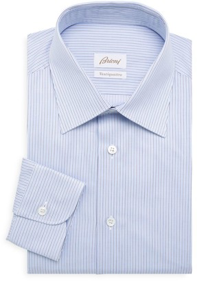 Brioni Multi-Stripe Cotton Dress Shirt