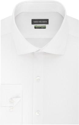 Van Heusen Men's Recycled Slim Fit Spread Collar Dress Shirt