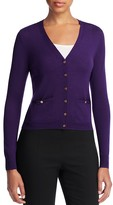 Tory Burch Shrunken Simone Merino Wool Cardigan