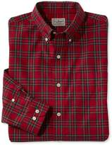 L.L. Bean Wrinkle-Free Mini-Tartan Shirt, Slim Fit