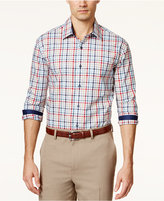 Tasso Elba Men's Fancy Grid-Print Long-Sleeve Shirt, Only at Macy's