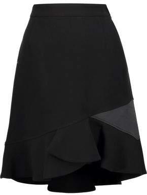 Emilio Pucci Satin-Trimmed Textured Wool-Blend Mini Skirt