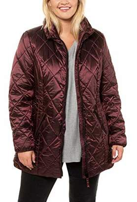 Ulla Popken Women's Plus Size Shimmering Diamond Quilted Jacket 24/26 723696 83-50+