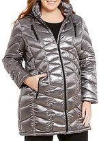 Calvin Klein Plus 3/4 Light Weight Packable Down Puffer Coat