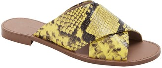 Banana Republic Leather Crossover Slide Sandal