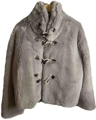 Golden Goose Grey Faux fur Jackets