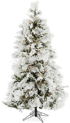 Christmas Time 6.5-Ft. Frosted Fir Snowy Clear Smart String Lighting Artificial Christmas Tree