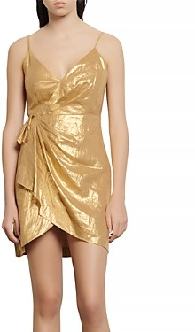 Sandro Nia Faux-Wrap Mini Dress