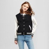 Mossimo Women's Varsity Jacket Black and Cream