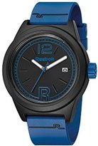 Reebok Classic R Men's Quartz Watch with Black Dial Analogue Display and Blue Silicone Strap RC-CNL-G3-PBPL-BL