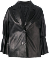 Drome peplum sleeve buttoned jacket - women - Leather/Acetate/Cupro - S