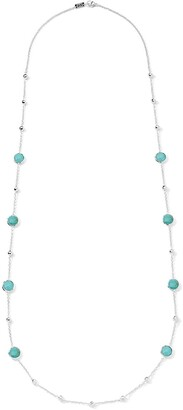 Ippolita Lollipop turquoise and ball station necklace