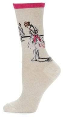 Hot Sox Ballerina Print Socks