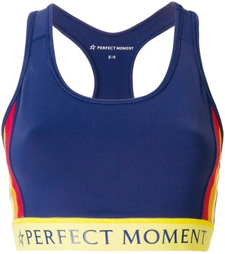Perfect Moment Printed Logo Fitness Top