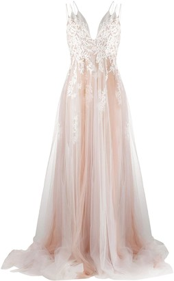 Loulou Embroidered Tulle Gown