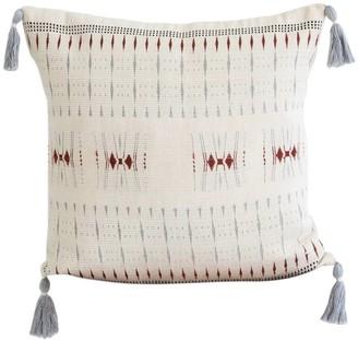 Karu Nagaland Cushion in Ivory and Rust