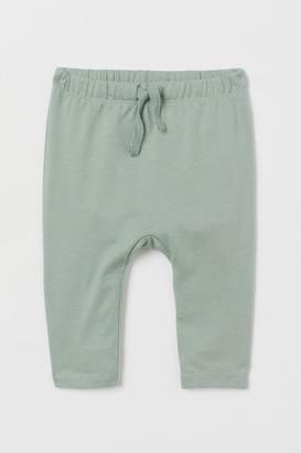 H&M Cotton Jersey Pants - Green