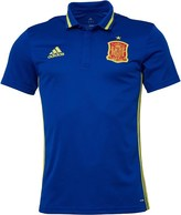 adidas Mens FEF Spain 3 Stripe ClimaLite Polo Collegiate Royal