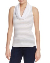 Three Dots Heather Stripe Cowl Neck Top - 100% Exclusive