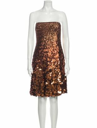 Kaufman Franco Kaufmanfranco Silk Mini Dress w/ Tags Brown Kaufmanfranco Silk Mini Dress w/ Tags