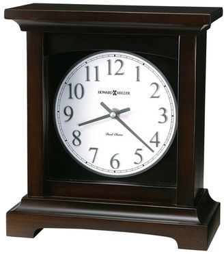 Howard Miller Urban II Modern, Contemporary, Transitional Chiming Mantel Clock with Silence Option, Reloj del Estante