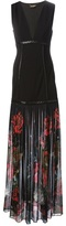Roberto Cavalli pleated floral gown
