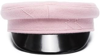 Ruslan Baginskiy Pink wool baker boy cap