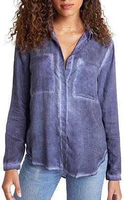Bella Dahl Full Button-Down Hipster Shirt (Graphite) Women's Clothing