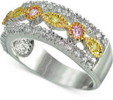 Giani Bernini Cubic Zirconia Tri-Tone Ring in Sterling Silver, Created for Macy's