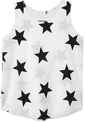 Nununu Star Voile Tank Top (Little Kids/Big Kids) (White) Girl's Clothing