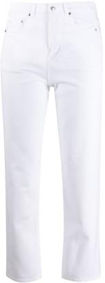 MSGM logo print slim jeans