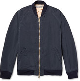 Remi Relief Embroidered Brushed-Twill Bomber Jacket
