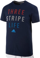 adidas Men's 3-Stripe Life Graphic T-Shirt, Only at Macys