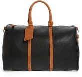 Sole Society 'Lacie' Faux Leather Duffel Bag - Black