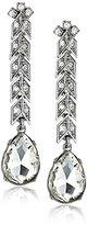 Kenneth Jay Lane Bride Clear Crystal Arrow Post Drop Earrings