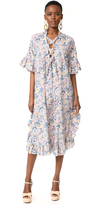 See by Chloe Print Ruffle Sleeve Dress