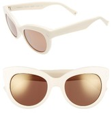 KENDALL + KYLIE Women's Charli 52Mm Cat Eye Sunglasses - Black/ White Marble
