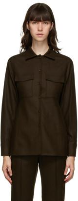 LVIR Brown Wool Pocket Shirt