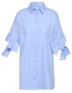 Victoria Victoria Beckham Bow-detailed Cotton-poplin Shirt