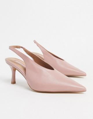 Topshop slingback heels in blush pink