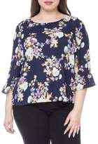 Bobeau Plus Lulu Wide-Sleeve Blouse