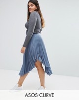 Asos Hanky Hem Pleated Skirt