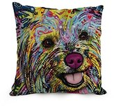 alphadecor throw cushion covers of Dog Abstract Art,for kids boys,kids girls,outdoor,wife,divan,lover 12 x 20 inches / 30 by 50 cm(2 sides)