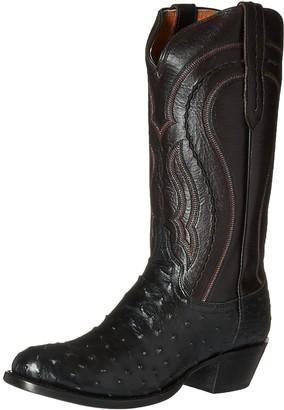 Lucchese Bootmaker Men's Montana-blk F.q. Ost Cord Derby Calf Riding Boot