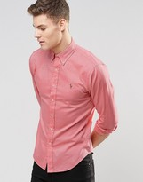 Polo Ralph Lauren Oxford Shirt In Slim Fit Red