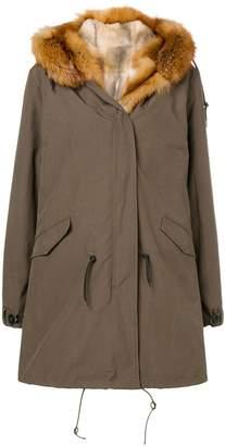 Liska parka fur-lined coat