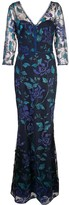 Marchesa Full Length Floral Dress