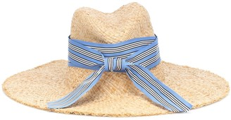 Lola Hats Striped First Aid raffia hat