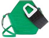 Danse Lente Extra-Small Johnny Geometric Croc-Embossed Leather Bucket Bag