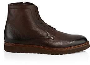 HUGO BOSS Men's Charm Zip Shearling-Lined Leather Ankle Boots
